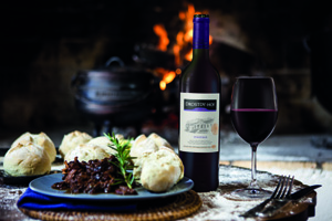 Oxtail Potjie with prune and port with Drostdy-Hof Pinotage