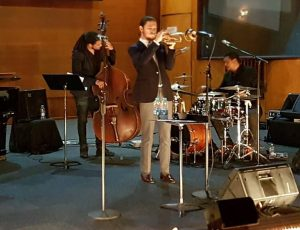 Bass: Benjamin Jephta; drums: Clement Benny; trumpet: Darren English. Courtesy: Diane Rossi