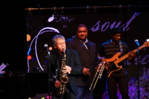 On stage: Dave Sanborn, Wycliff Gordon, Marcus Miller