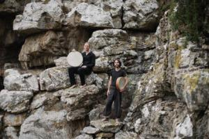 James van Minnen & Ronan Skillan outside their cave