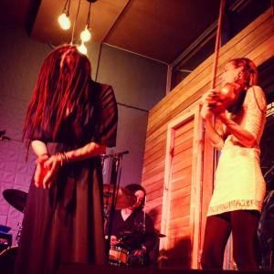Deane, Terryl Bell drums; Carly Nauta violin; photo by Olga Callige