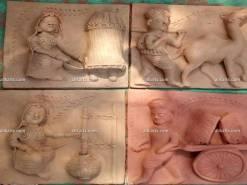 Molela Terracotta Plaques of Village Life