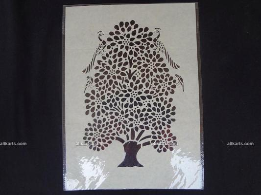 Tree of Life Sanjhi Art Wall Hanging