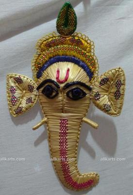 Sikki Grass Face of Lord Ganesha