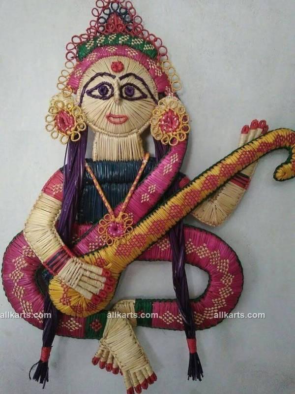 Sikki Grass Goddess Saraswati