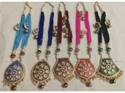 Meenakari and Kundan Necklace and Earrings Set