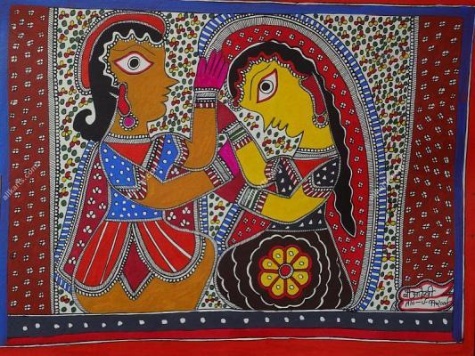 Madhubani Painting by Baua Devi