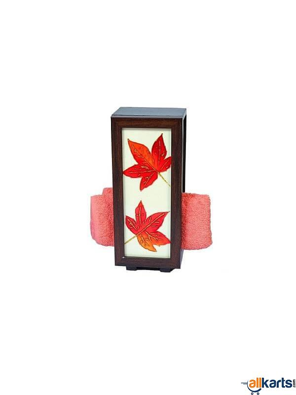 Leaf Painting on Glass-Towel Holder
