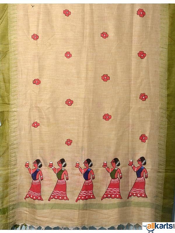 Hand Painted Cotton Silk Dupatta