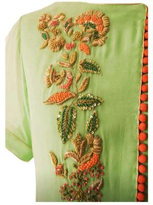 Zardozi Hand Embroidery Kurti