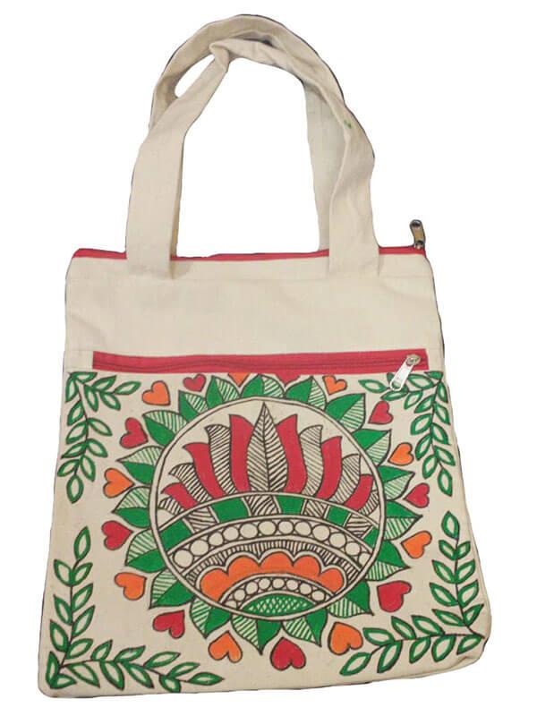Madhubani Hand Painted Canvas Bag