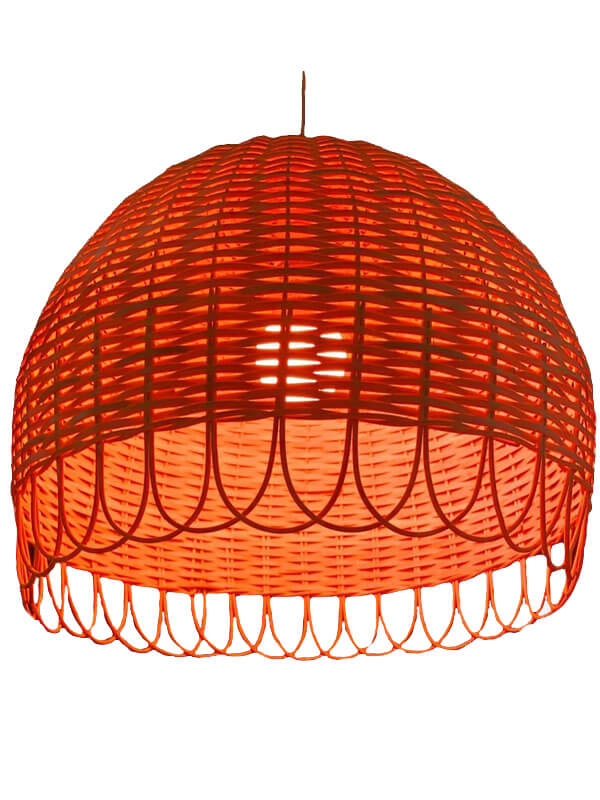Cane and Bamboo Lamp
