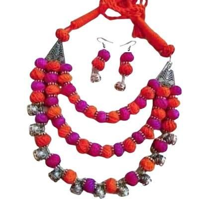 Cotton Balls Jewellery Set