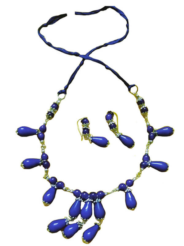Glass Teardrop Beads Jewellery Set