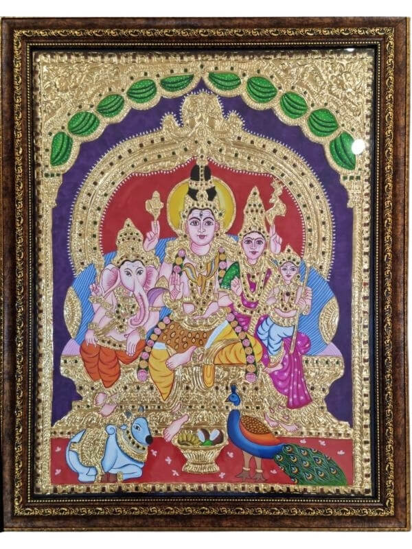 Tanjore Painting with Original 23.5 Carat Gold Foil