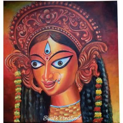 Acrylic Canvas Painting of Maa Durga