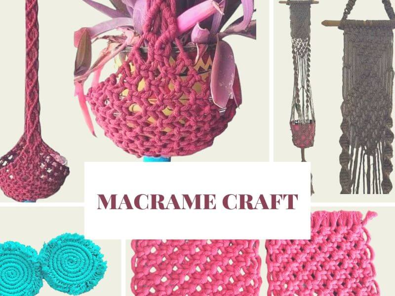 Macrame Plant Hangers and Coasters