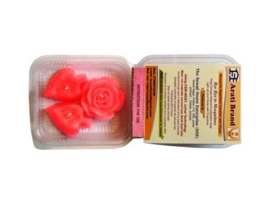 Pack of 3 Paraffin Wax Herbal Aroma Designer Candles