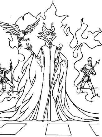 Sleeping Beauty Coloring Page Sleeping Beauty Maleficent All Kids Network