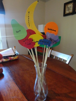 Fruits Of The Spirit Bouquet Craft All Kids Network