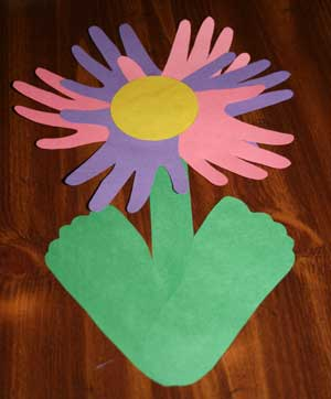 Hand and Footprint Flower Craft   All Kids Network