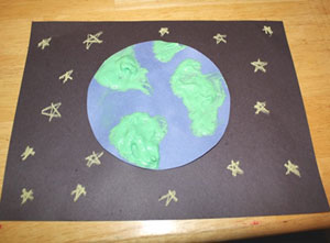 Earth day paint pour craft. Planet Earth Craft All Kids Network