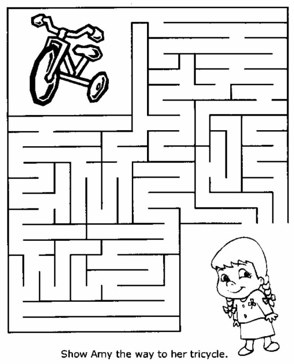 maze coloring pages # 28