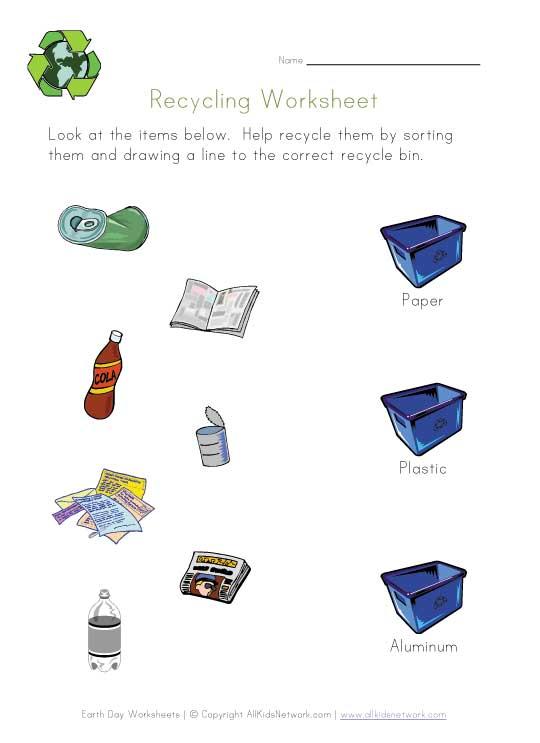 Worksheets Esl Recycling