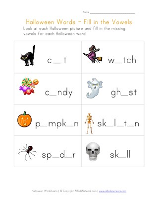 Halloween Words For Toddlers | Reviewwalls.co