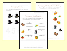 thanksgiving worksheets for kids