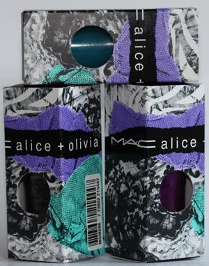mac alice olivia nail lacquer packaging MAC Alice + Olivia Collection Nail Lacquer Swatches & Review