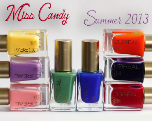 L Oreal Paris Miss Candy Jelly Nail Polish Collection