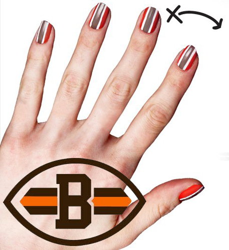 Cover Nfl Cleveland Browns Fanicure Nailgating