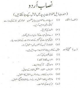 paf urdu syllabus sargodha
