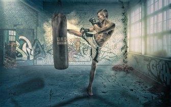 Kickboxer Composing Artwork Allmie Photoshop Manipulation