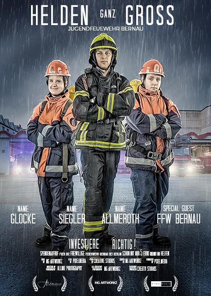 Feuerwehr Bernau Jugendfeuerwehr Artwork Helden ganz Gross Allmie
