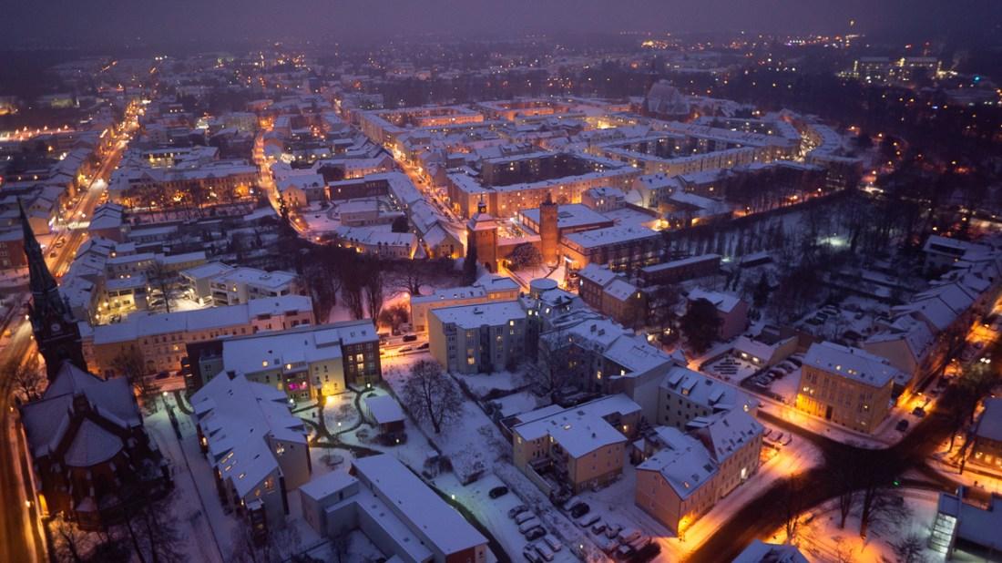 Luftbild Bernau Winterwunderland Allmie Bildbearbeitung Bernau bei Berlin