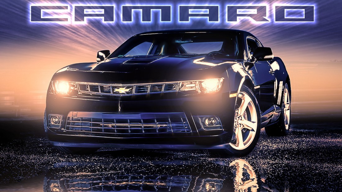 Camaro Car Composing Artwork Allmie