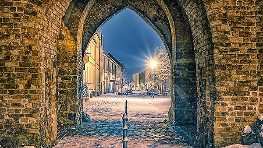 Bernau bei Berlin im Winter Steintor Allmie