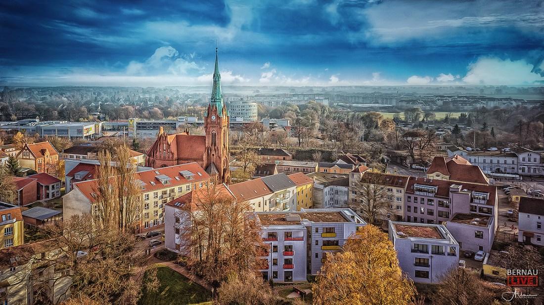 Bernau Katholische Kirche Luftbild Allmie