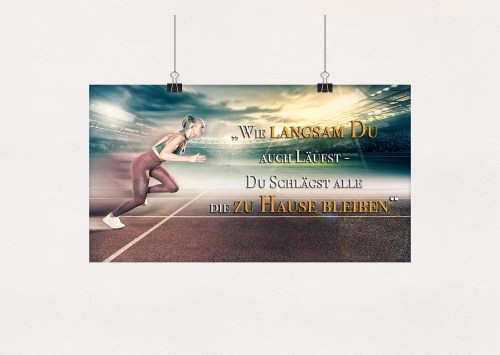 Wandposter Motivationsplakat