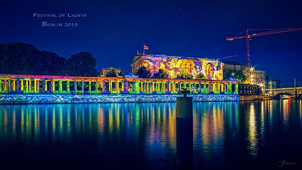 Festival of Lights Berlin 2018 Allmie Wandbild