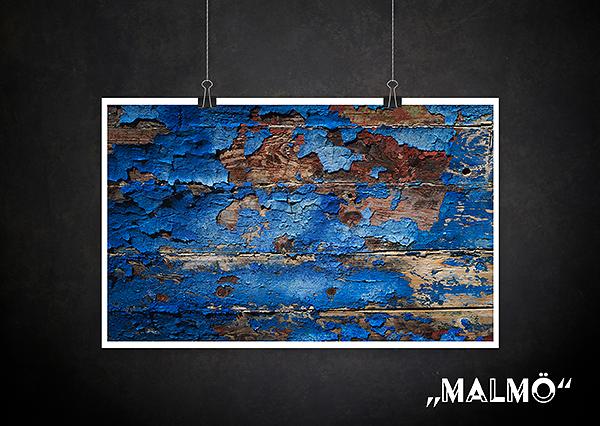 Backdrop Malmö blau Holz Textur für Fotografen Allmie