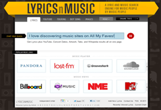 the best lyrics and music search engine