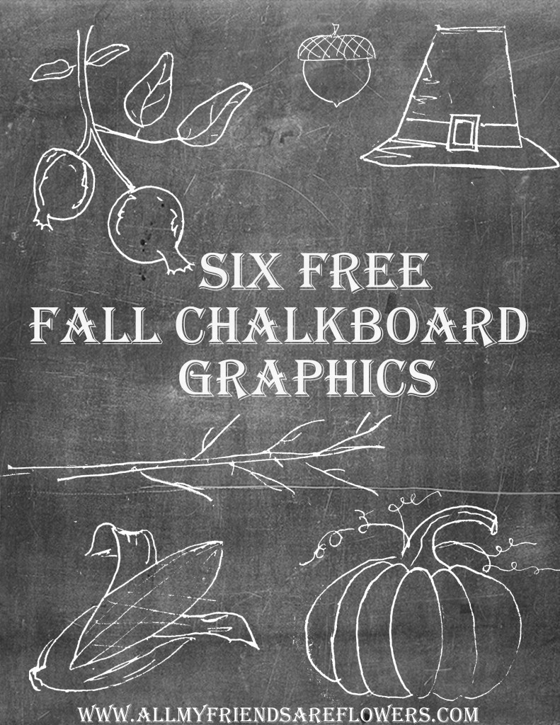 Six Free Fall Chalkboard Graphics