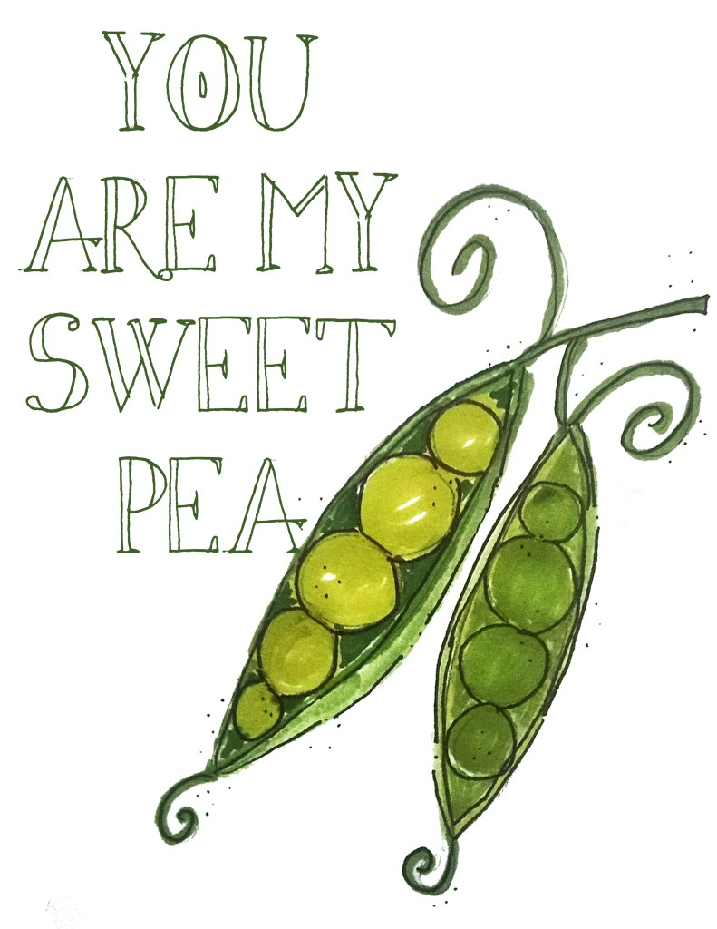 you are my sweet pea nursery printable