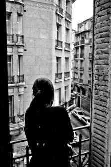 black white balcony europe