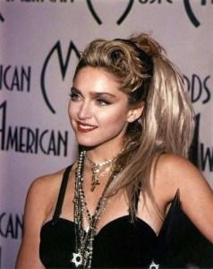 Madona ponytail
