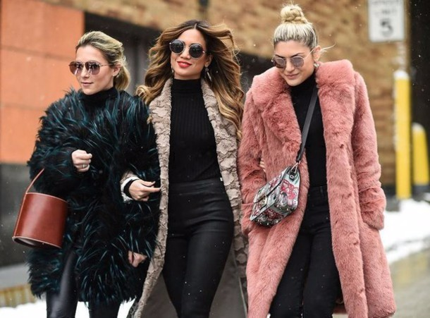fur coats, oversized fur, fur trend, faux fur