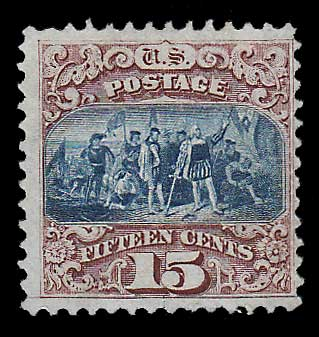U.S.A. #119 Fine Unused 1869 15c Columbus